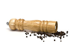 Grinder for peppercorns. Royalty Free Stock Photos