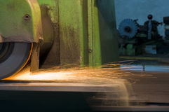 Grinder with sparks Stock Photography