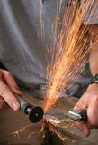 Grinder sparks Royalty Free Stock Photo