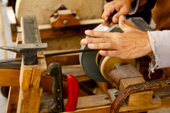 Grinder traditional wheel hand tools Stock Image