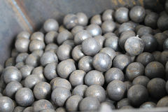 Grinding balls. For the mining industry, steel Stock Photography