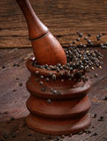 Grinding black pepper Royalty Free Stock Photos