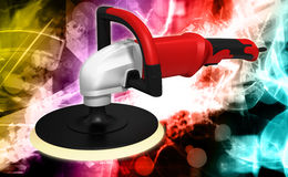 Grinding car and abrasive disk Royalty Free Stock Photos