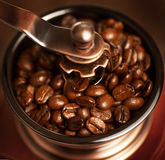 Grinding coffee beans Stock Photos