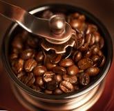 Grinding coffee beans Stock Photos