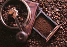 Grinding Coffee Manually Royalty Free Stock Images