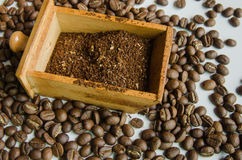Grinding coffee Royalty Free Stock Photo