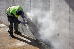 Grinding Concrete Stock Photo