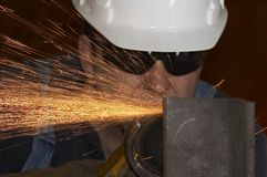 Grinding labor Royalty Free Stock Image