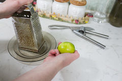 Grinding lime. Royalty Free Stock Photography