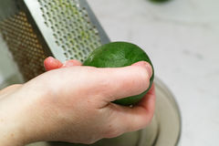 Grinding lime. Stock Images