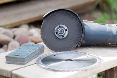 Grinding machine. Metal grinding machine with parts Royalty Free Stock Photos
