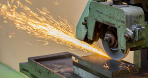 Grinding machine on work Royalty Free Stock Photo