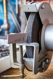 Grinding machine in the workshop for tool sharpening Royalty Free Stock Photo