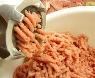Grinding meat Royalty Free Stock Image