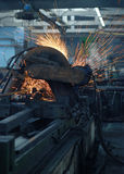 Grinding metal stock images