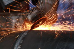 Grinding Metal Royalty Free Stock Photography