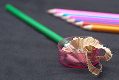 Grinding pencils Royalty Free Stock Photo