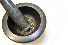 Grinding peppercorns Royalty Free Stock Photo