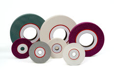 Grinding polishing felts. Grinding and polishing wheels  felts Stock Photo