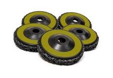 Grinding and polishing wheels Royalty Free Stock Photography