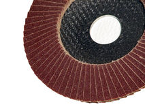 Grinding sand paper. Sand paper Royalty Free Stock Photos