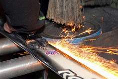 Grinding skis Royalty Free Stock Photo