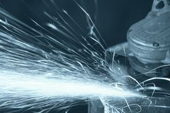 Grinding sparks royalty free stock images