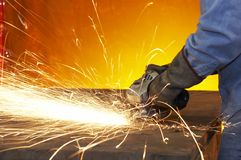 Grinding steel Royalty Free Stock Photos