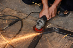Grinding steel Royalty Free Stock Image