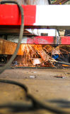 Grinding steel Under view Royalty Free Stock Photos