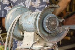Grinding stone motor for secret work,. Grinding Or general work royalty free stock photos