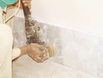 Free Grinding The Tiled Floor Stock Image - 50670871