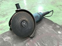 Grinding tool. Abrasive grinding tool on site Royalty Free Stock Photo