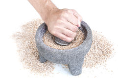 Grinding wheat Stock Image