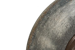 Grinding wheel on a white background. In high resolution Stock Images