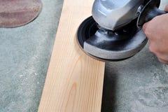 Grinding wood Royalty Free Stock Photos