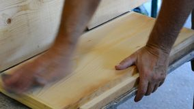 Grinding the wood stock footage