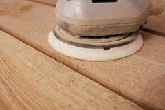 Grinding wooden boards Royalty Free Stock Photography