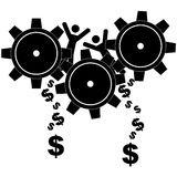 Grinding workers royalty free illustration