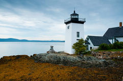 Grindle Point lighthouse in Islesboro, Maine Stock Image