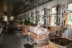 Grindstone in manufactory Royalty Free Stock Photo