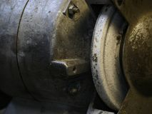 Grinding wheel. The grindstone, old grinding machine Royalty Free Stock Images