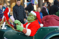 Gringe at Santa Clause Parade Royalty Free Stock Photos