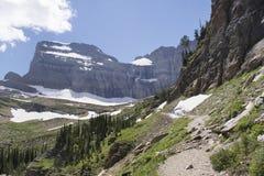 Grinnell冰川足迹-冰川国家公园 免版税库存照片