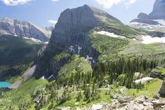 Grinnell冰川足迹-冰川国家公园 图库摄影