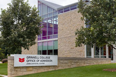 Grinnell College Office of Admission on the campus of Grinell Co Royalty Free Stock Image