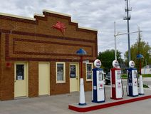 Grinnell Filling Station Stock Image
