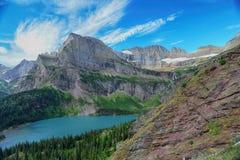 Grinnell Glacier clear blue sky, Glacier National Park Stock Images