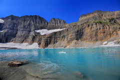 Grinnell Glacier clear blue sky, Glacier National Park Royalty Free Stock Photography